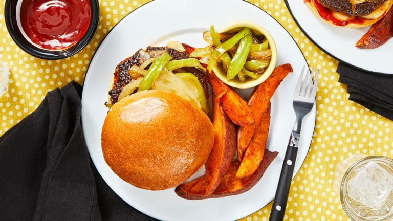 Smothered Pepper Jack Burgers