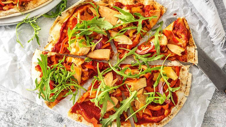 Platbroodpizza's met tonijn