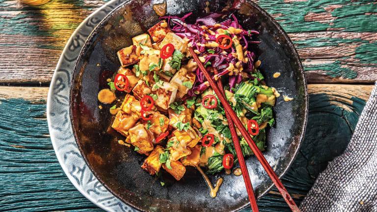 Tofu & Sweet Potato Buddha Bowl
