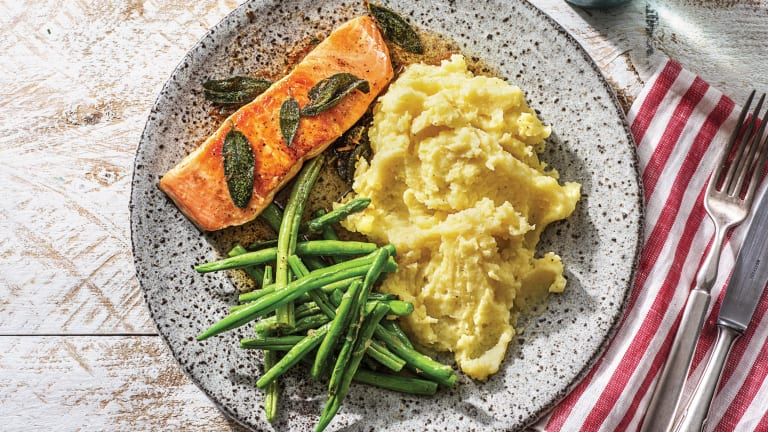 Seared Salmon & Sage Butter