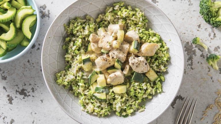 Kipcurry met broccoli-rijst