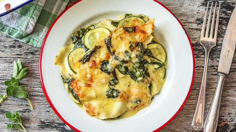 Vegetarische lasagne met spinazie