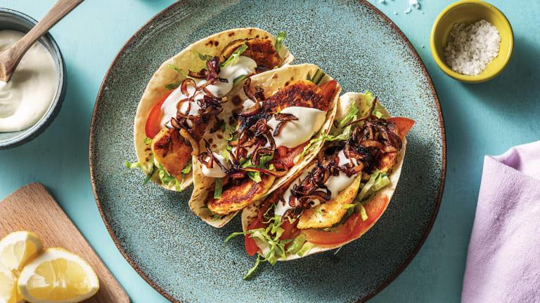 Garlic & Oregano Haloumi Tacos