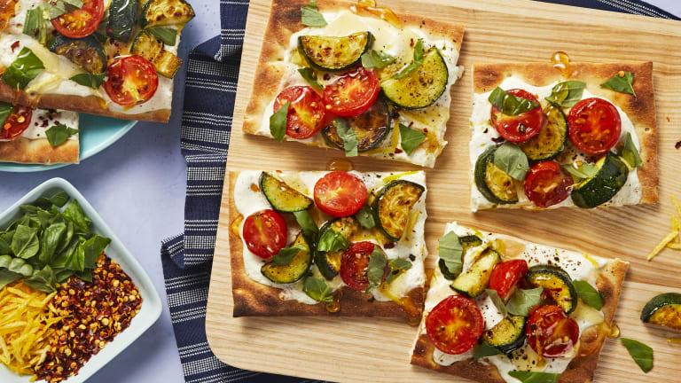 Zucchini and Tomato Flatbreads