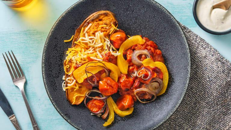 Chili-Süßkartoffel-Kumpir