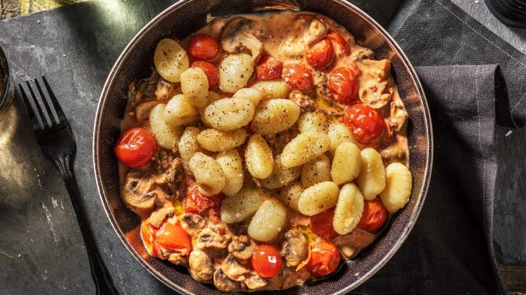 Verse gnocchi in tomatenroomsaus