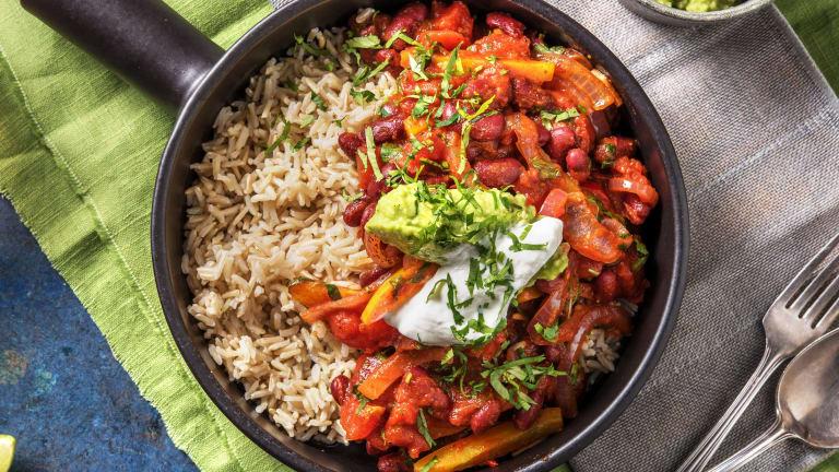 Chilli sin carne et riz cargo
