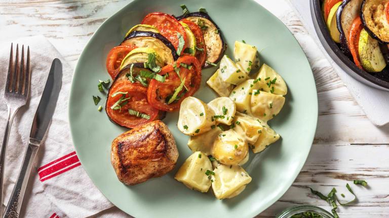 Filet mignon et tian de légumes