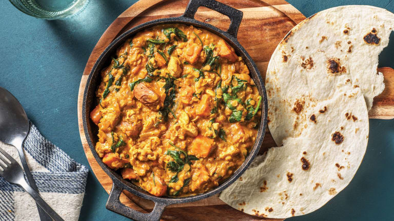 Indian Chicken & Creamy Coconut Red Lentil Curry