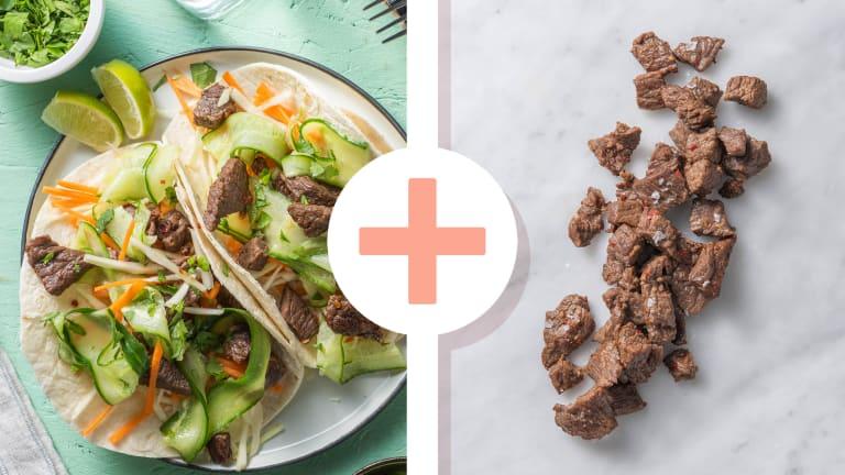 Wraps d'émincé de bœuf à la coréenne en double portion