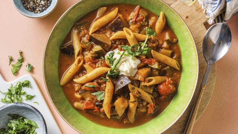 Italiaanse maaltijdsoep met gehakt