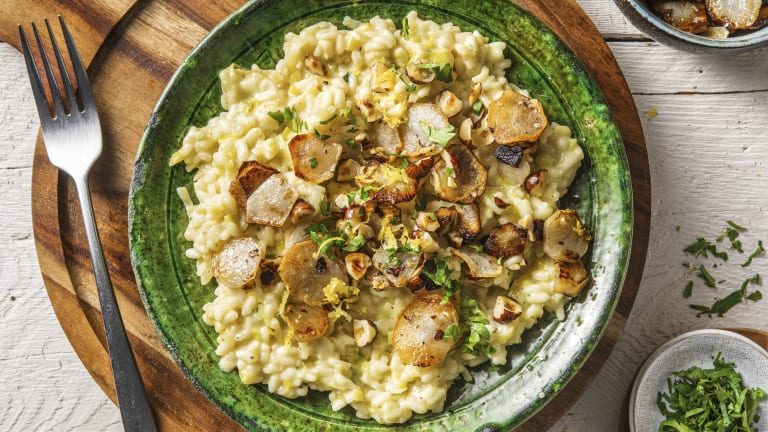 Risotto d'hiver aux topinambours