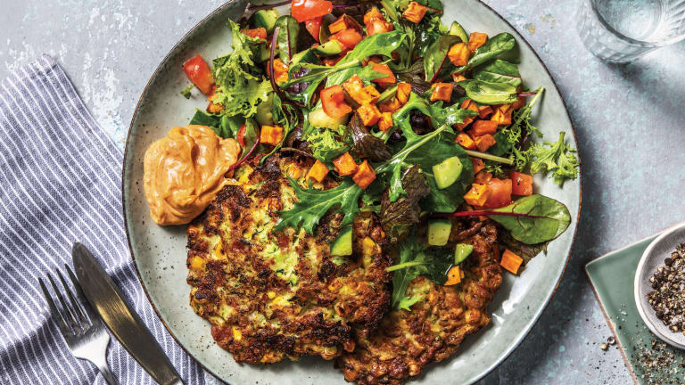 Bacon, Courgette & Corn Fritters