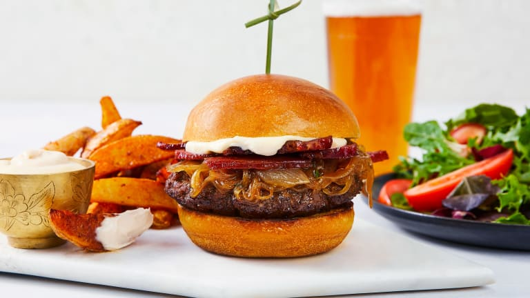 Bacony French Onion Soup Burgers