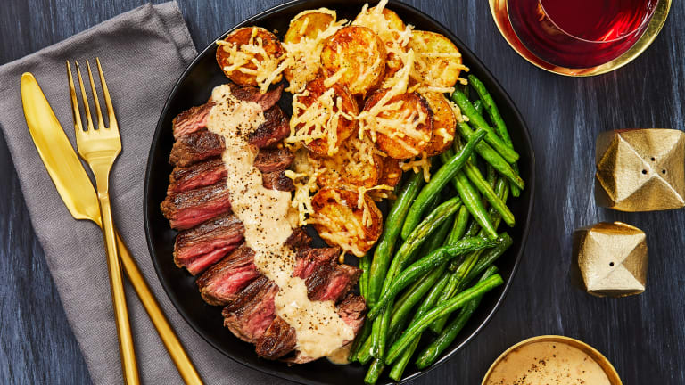 Bavette Steak And Sherry Shallot Sauce