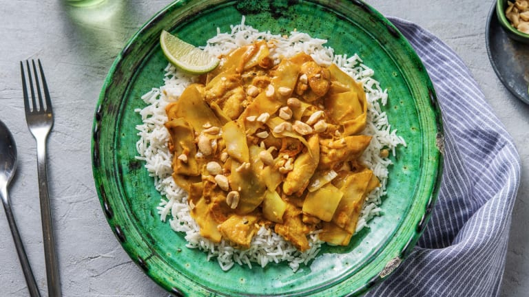 Curry doux à l'indonésienne, cuisse de poulet et citron vert