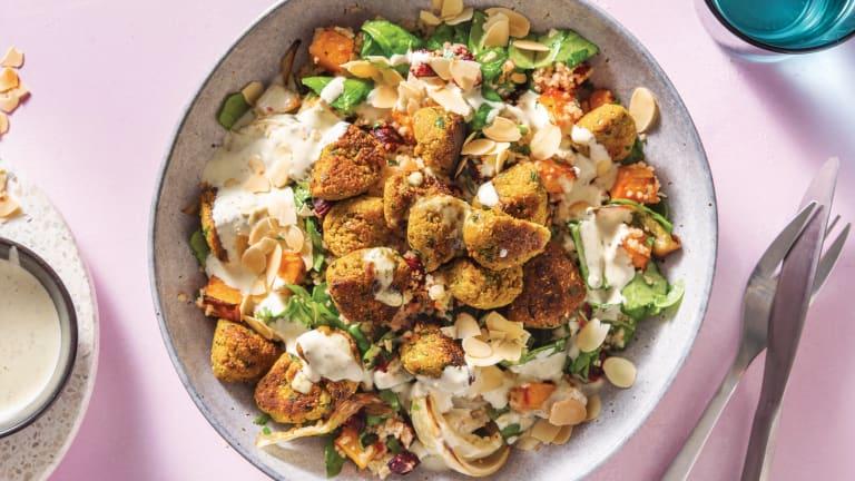 Spinach Falafel & Pumpkin Couscous