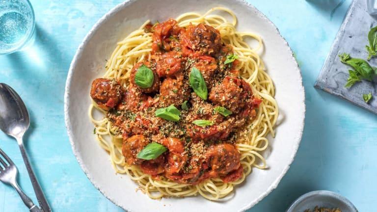 Boulettes végétales à la sauce tomate