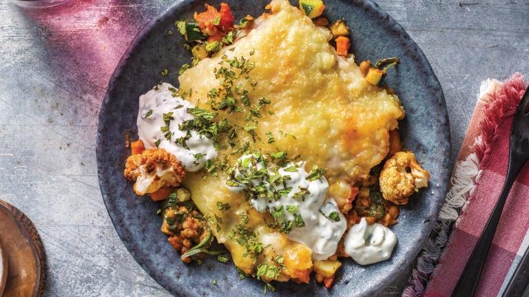 Moroccan Lentil & Cauliflower Pie