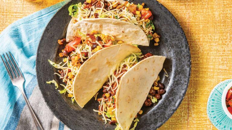 Chipotle Bean Tacos & Corn Salsa