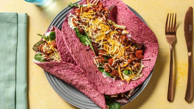 Rote-Bete-Burritos mit Hackfleisch