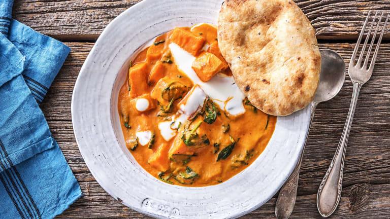 Indisches Süsskartoffel-Tikka-Curry