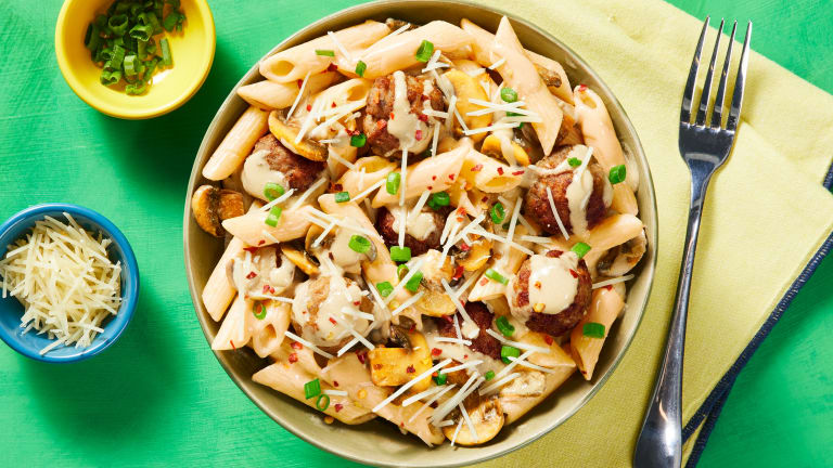 Penne with Pork Meatballs