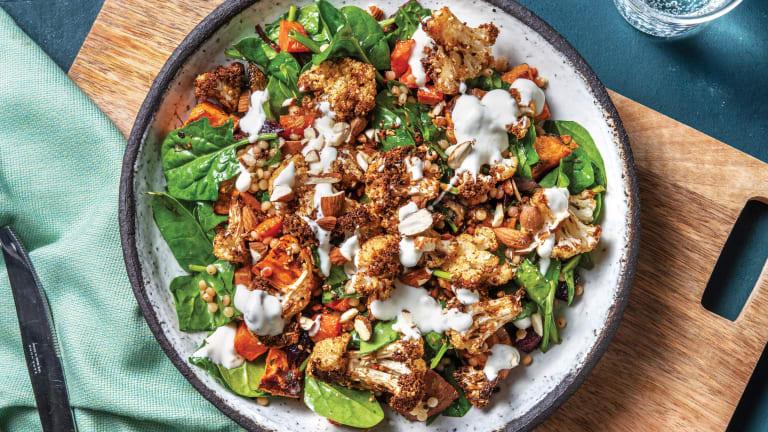 Dukkah Cauliflower & Pearl Couscous Salad