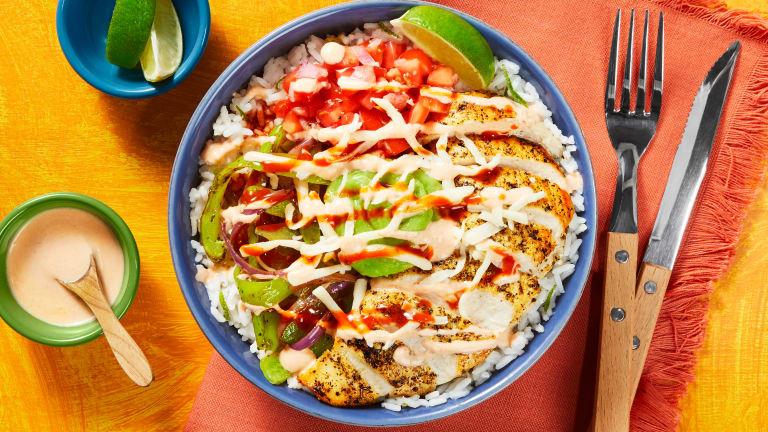 Chicken & Guac Burrito Bowls