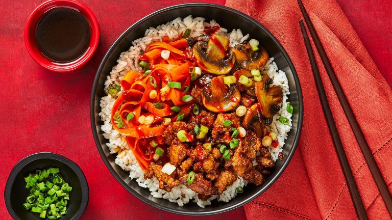 Pork, Mushroom & Carrot Bibimbap