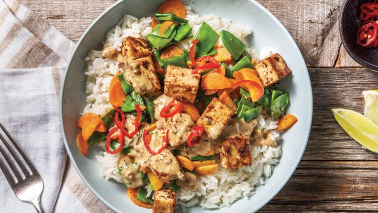 Peanut Tofu & Sesame Rice