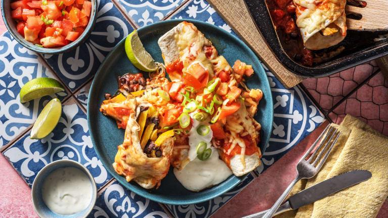 Enchiladas mit rauchiger Tomatensoße