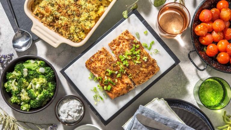 Honig-Senf-Lachsfilet aus dem Ofen