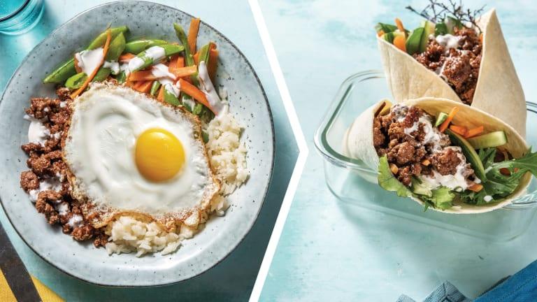 Beef Bibimbap Rice Bowl for Dinner