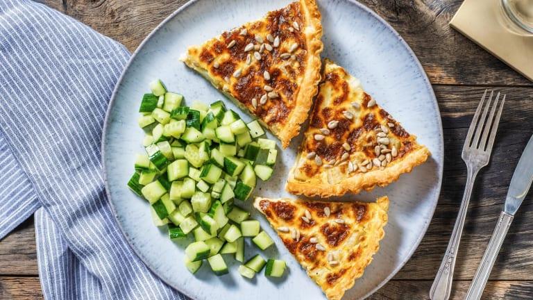 Koolrabiquiche met oude kaas en rozemarijn