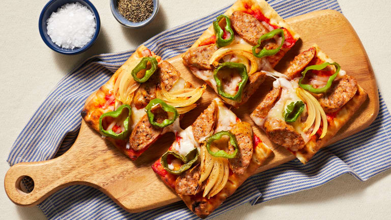 Double Cheese & Pork Sausage Flatbreads