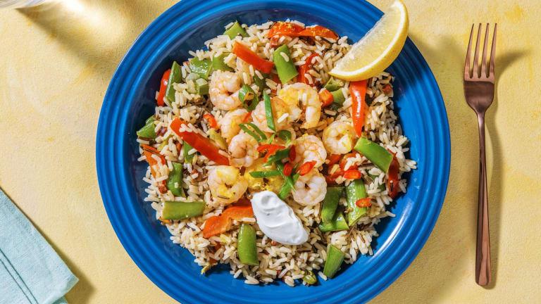Spanischer Reis mit Chorizo und Garnelen