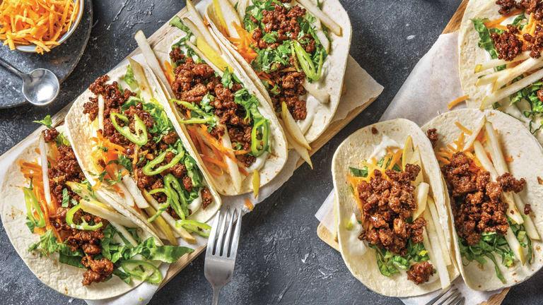 Vietnamese-Style Pork & Pear Tacos