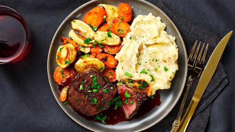 Beef Tenderloin with Brown Butter Veggies