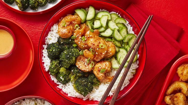 Sweet Heat Shrimp Tempura Bowls