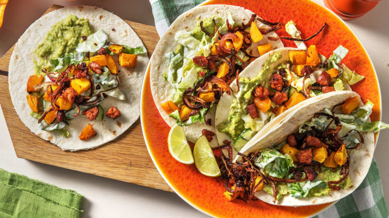 Tacos mit Süßkartoffel und Chorizo