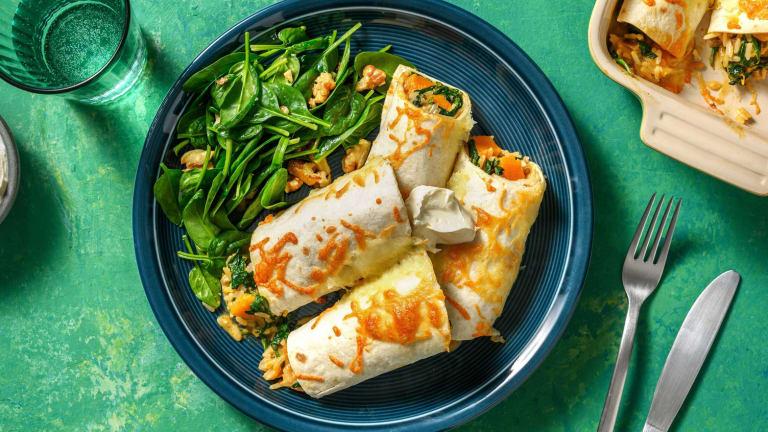 Enchiladas à la courge et au cheddar