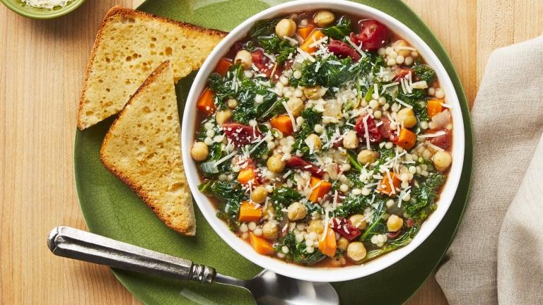 Tuscan Chickpea, Kale & Tomato Soup