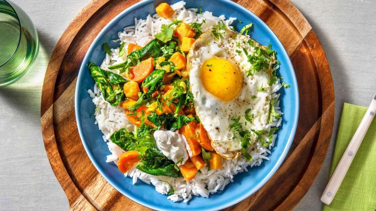 Curry d'épinards et patate douce