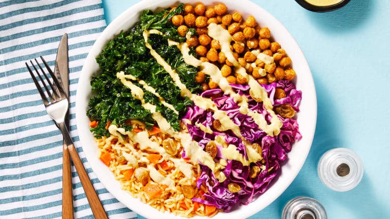 Crunchy Curried Chickpea Bowls