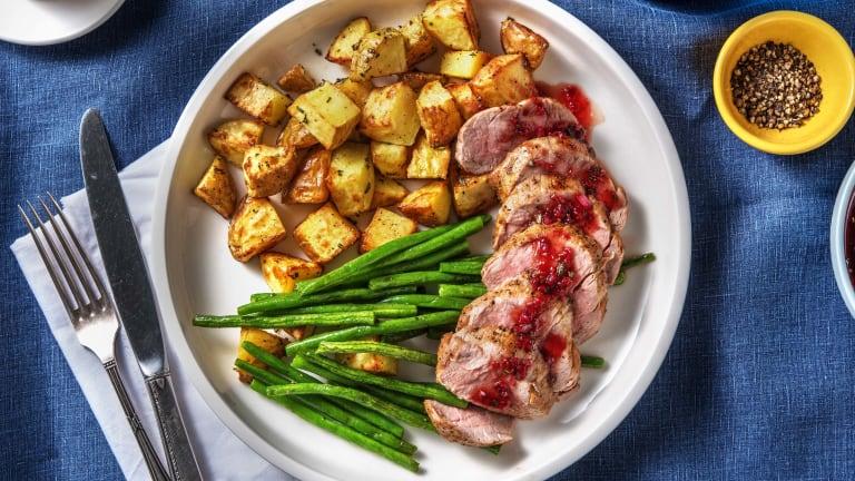 Filet de porc sauce fraise-balsamique