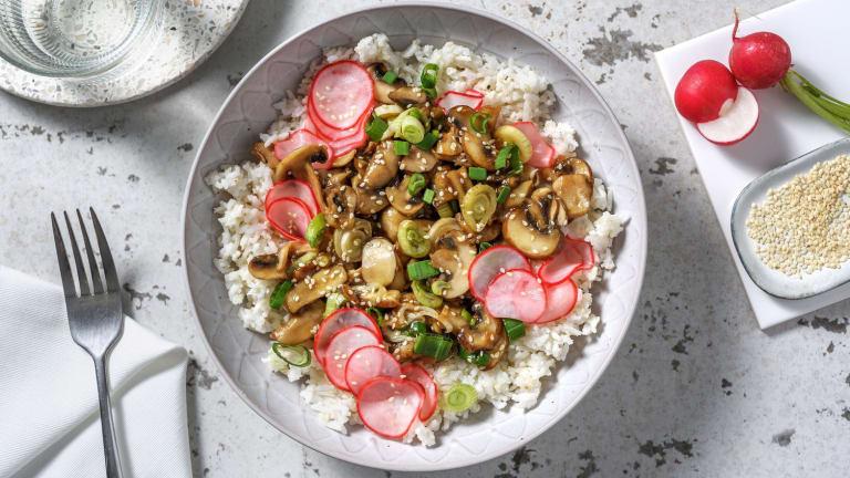 Ricebowl aux champignons laqués