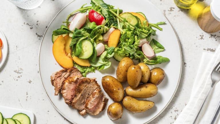 Filet mignon et salade d'été