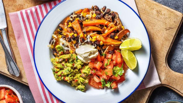 Assiette végétarienne à la mexicaine