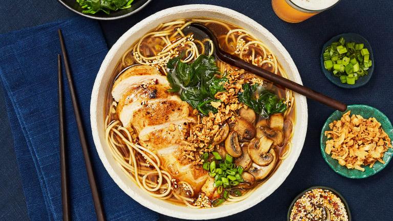 Chicken Ramen in a Shoyu-Style Broth